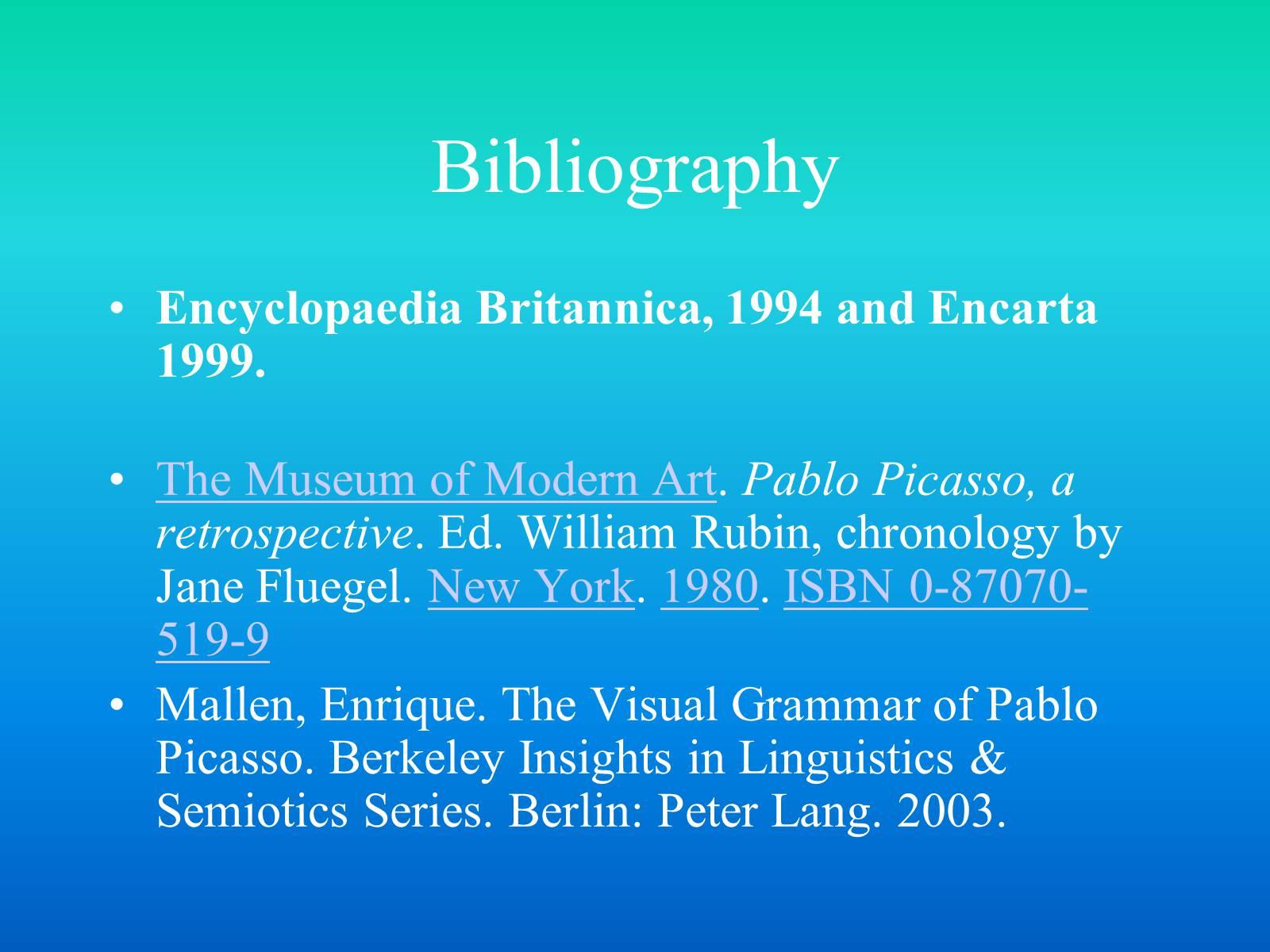 bibliography of encyclopedia