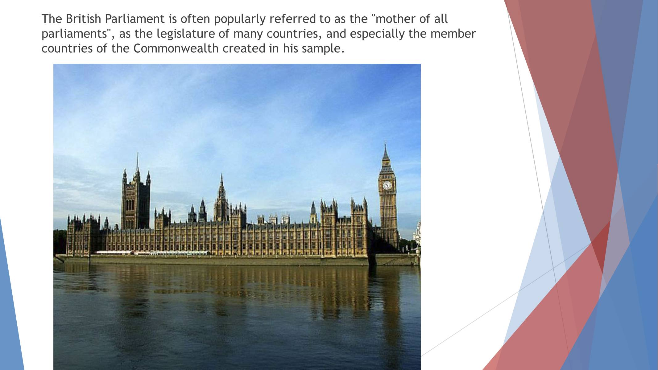 Презентація на тему «Parliament of the United Kingdom of Great Britain and Northern Ireland» - Слайд #2
