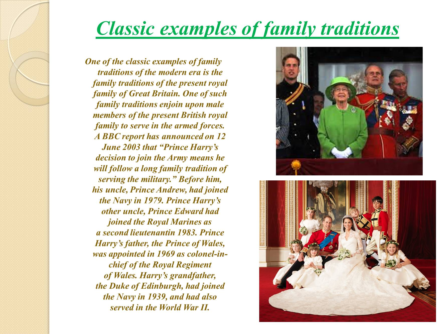 family culture and traditions essay Many families have important traditions that family members share what is one of your family's important traditions use specific reasons and details to support your response.