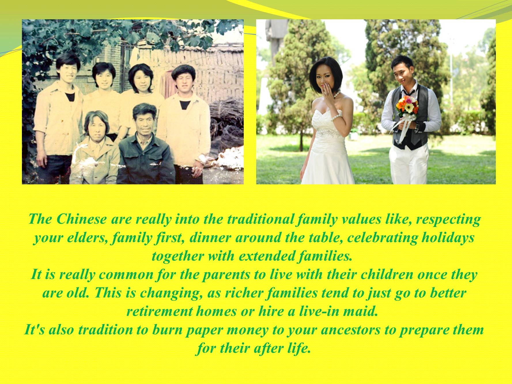 traditional family values and they changing