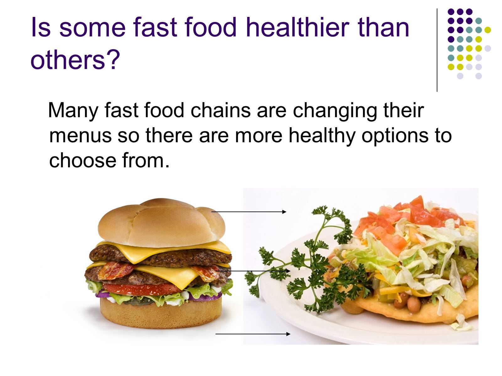 healthy fast food in america essay