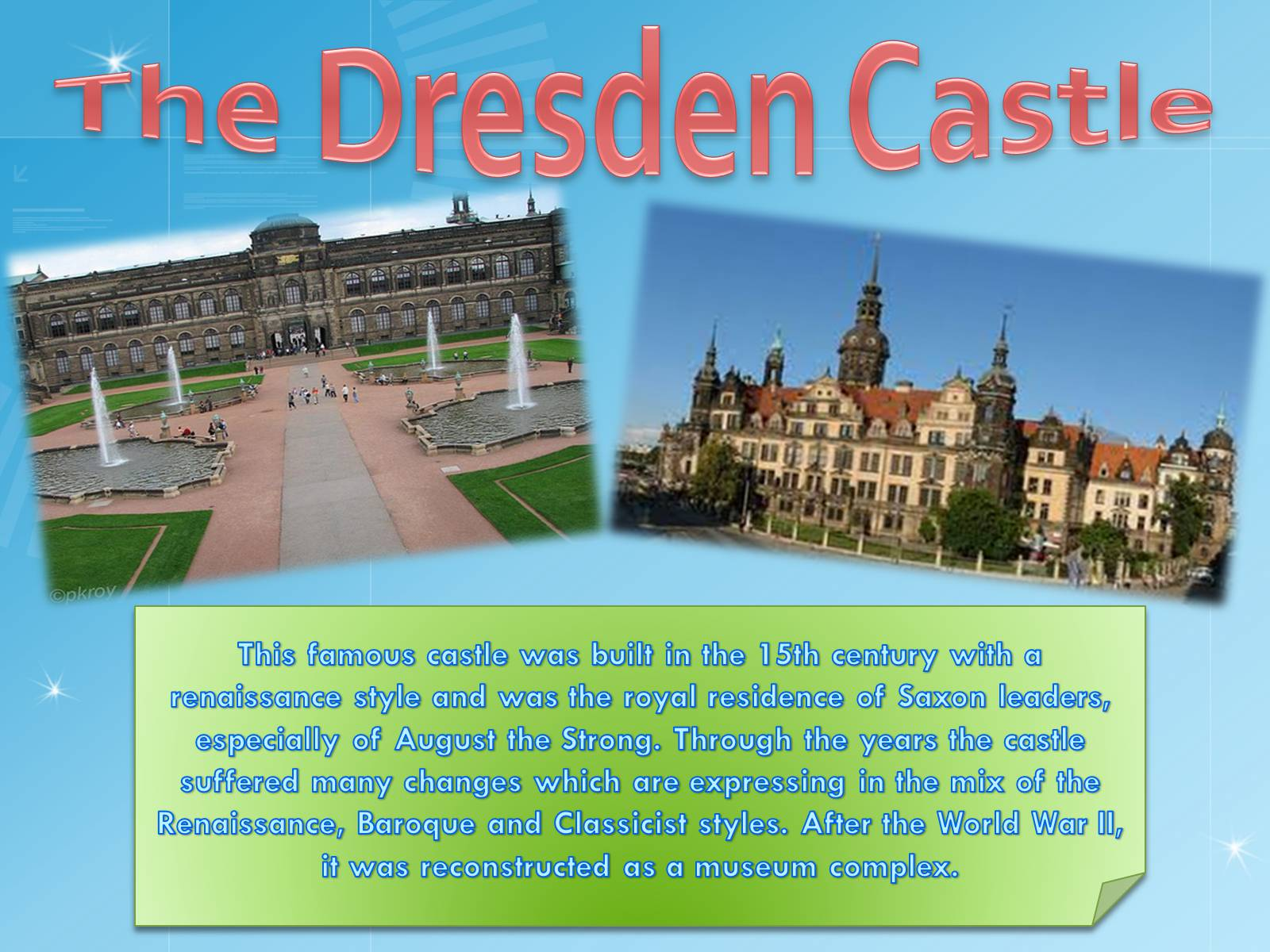 Презентація на тему «Dresden – one of the most beautiful towns in the world…» - Слайд #7