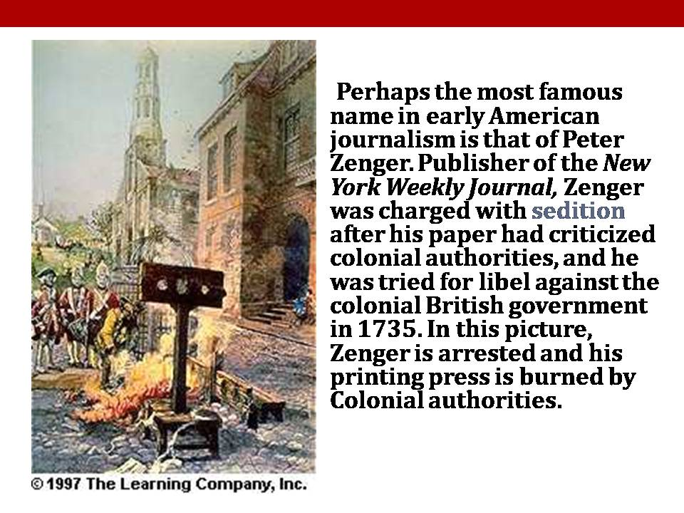 history of american journalism Nevertheless, yellow journalism of this period is significant to the history of us foreign relations in that its centrality to the history of the spanish american war shows that the press had the power to capture the attention of a large readership and to influence public reaction to international events.