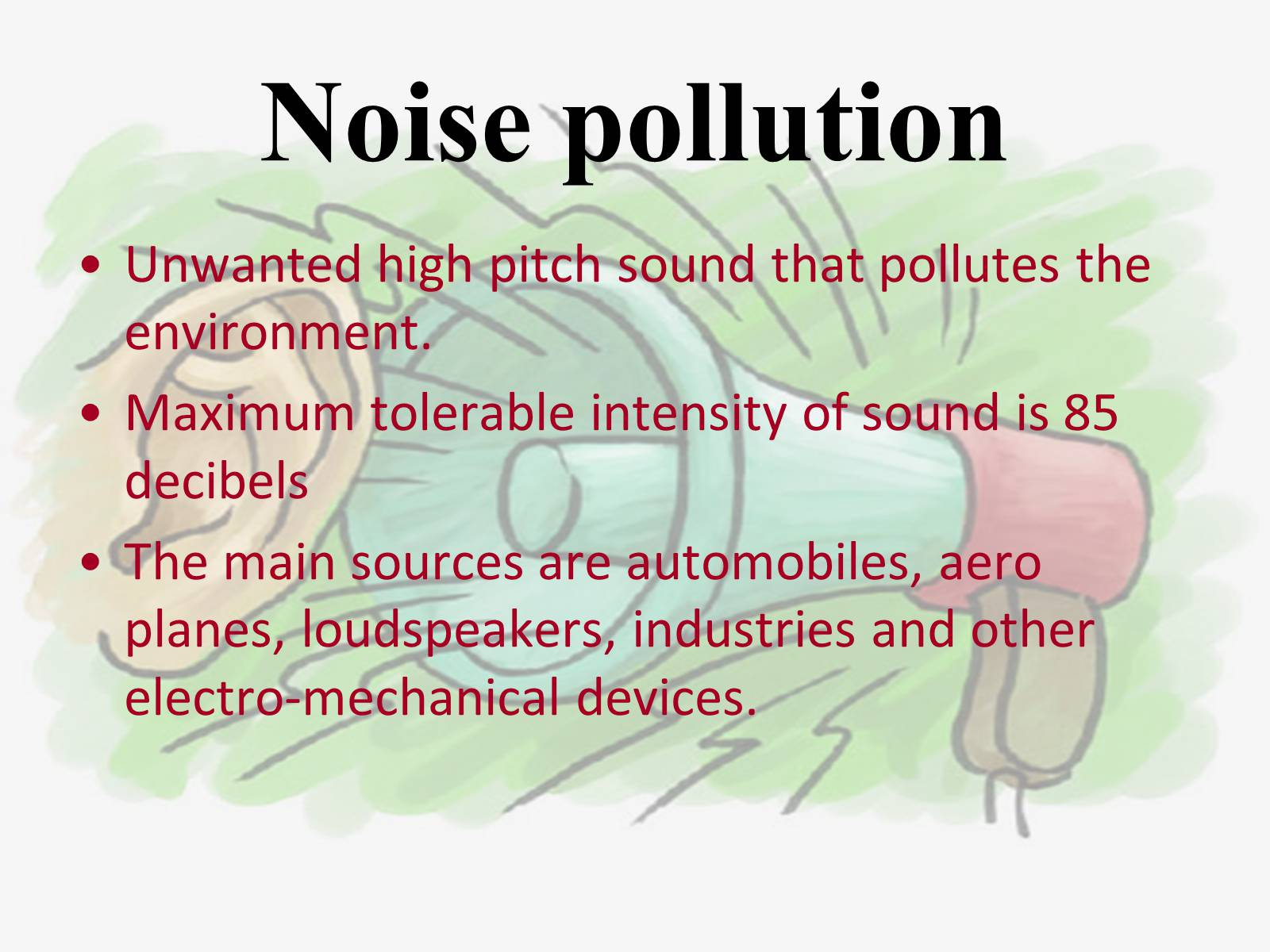 Pictures about noise pollution Noise Pollution (Regulation and Control) Rules