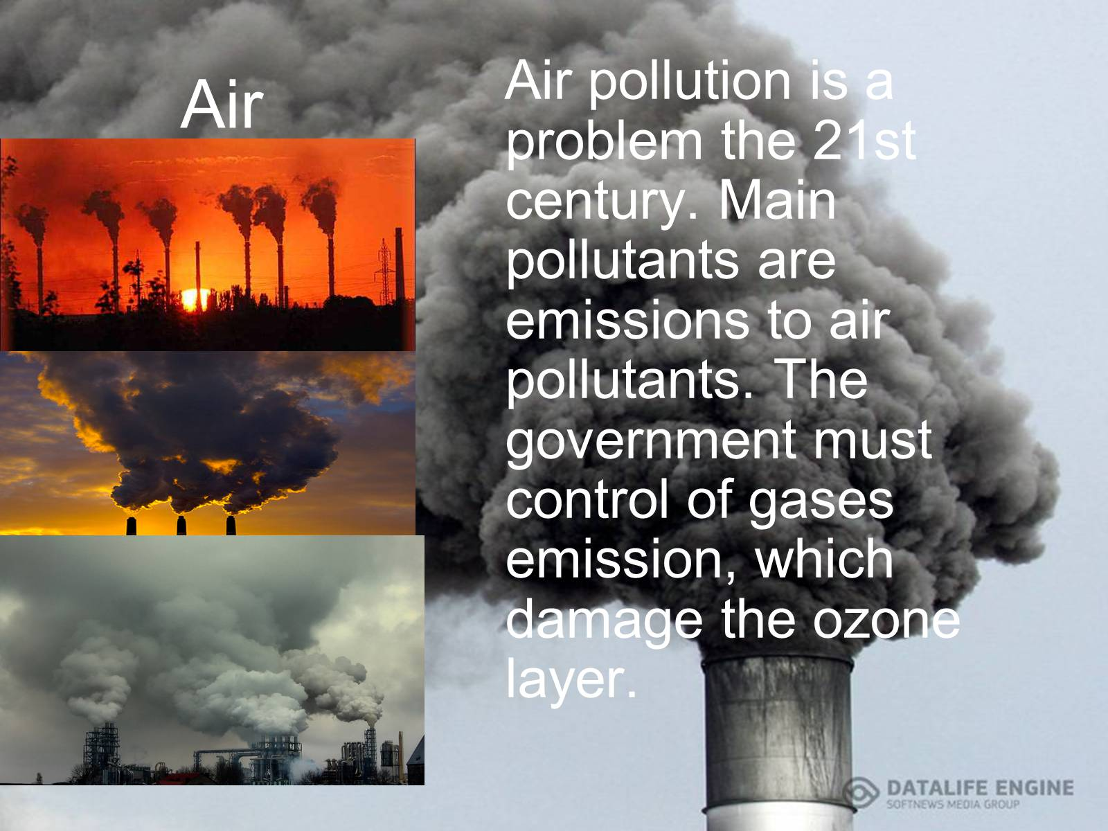 pollution air pollution Air pollution and water pollution affect many countries, especially china find out how many air pollution deaths occur around the world.