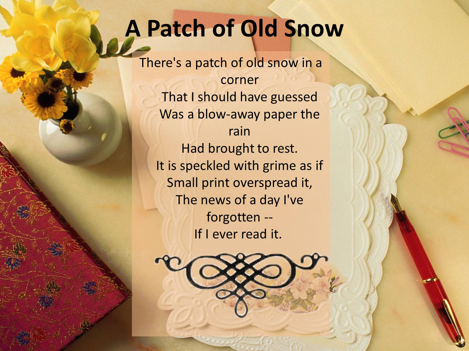 a patch of old snow