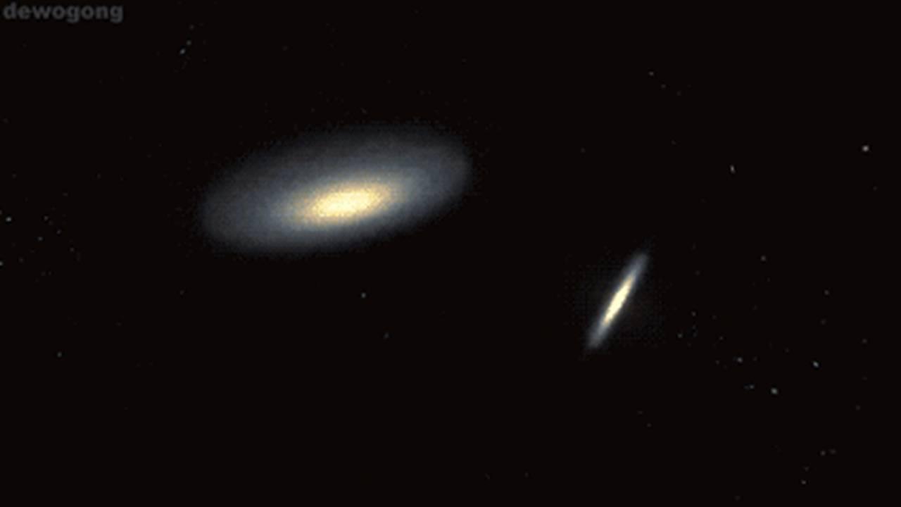 collisions between galaxies