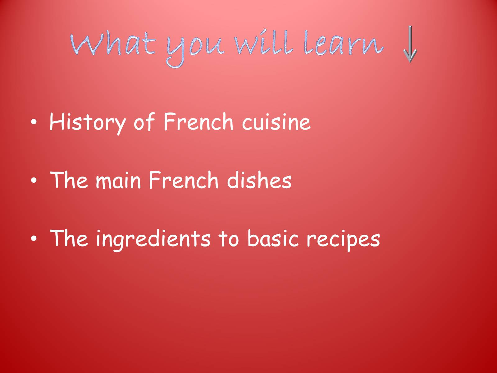 history of french cuisine from conventional