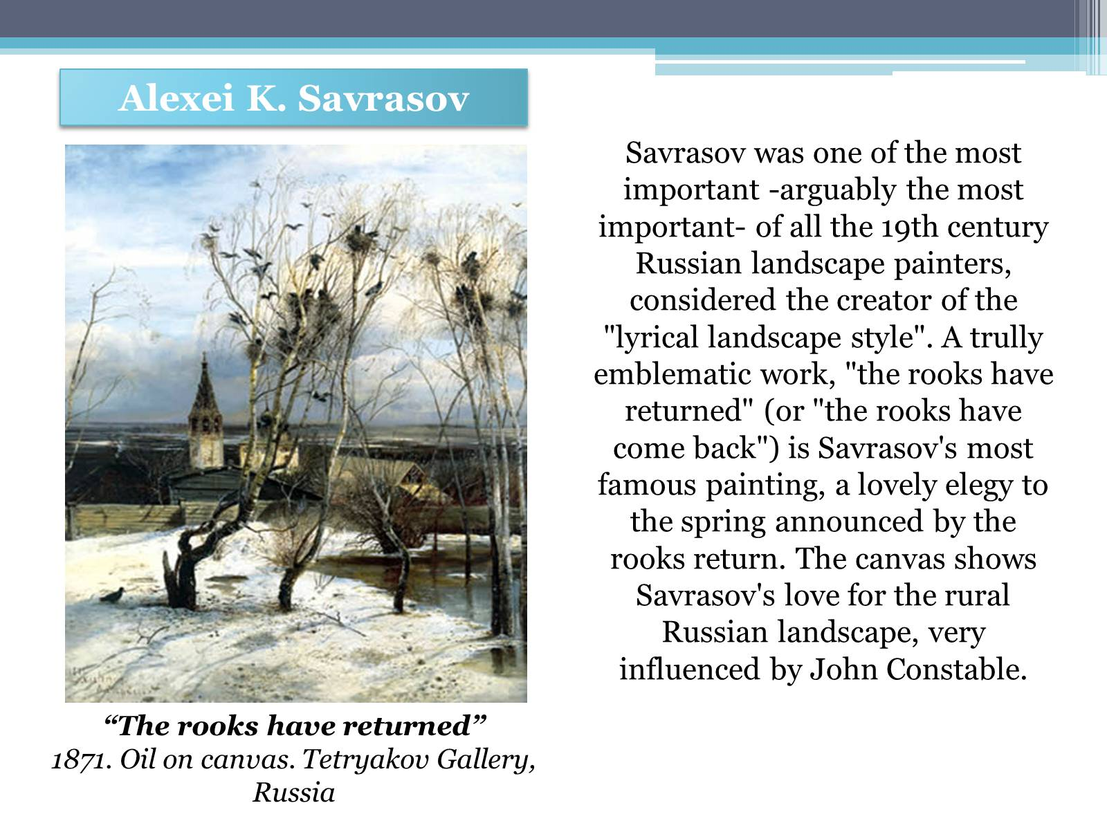 Презентація на тему «Russian painting in the second half XIX - beginning of XX century» - Слайд #10