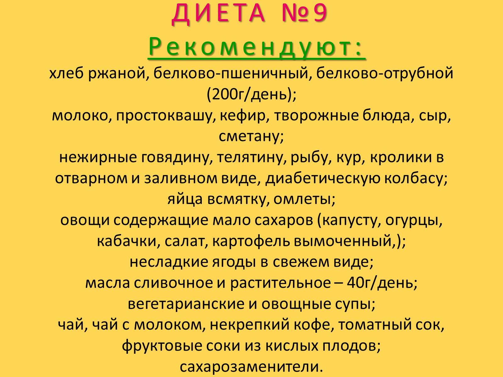 Диета Сахарного Диабета Меню.