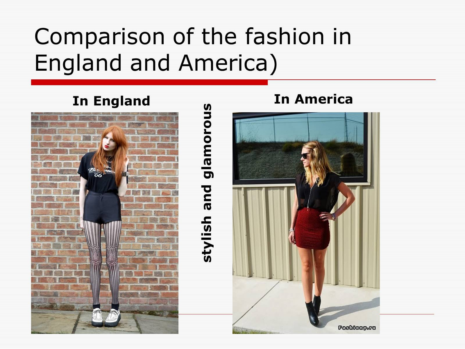 Презентація на тему «Comparison of the fashion in England and America» - Слайд #3