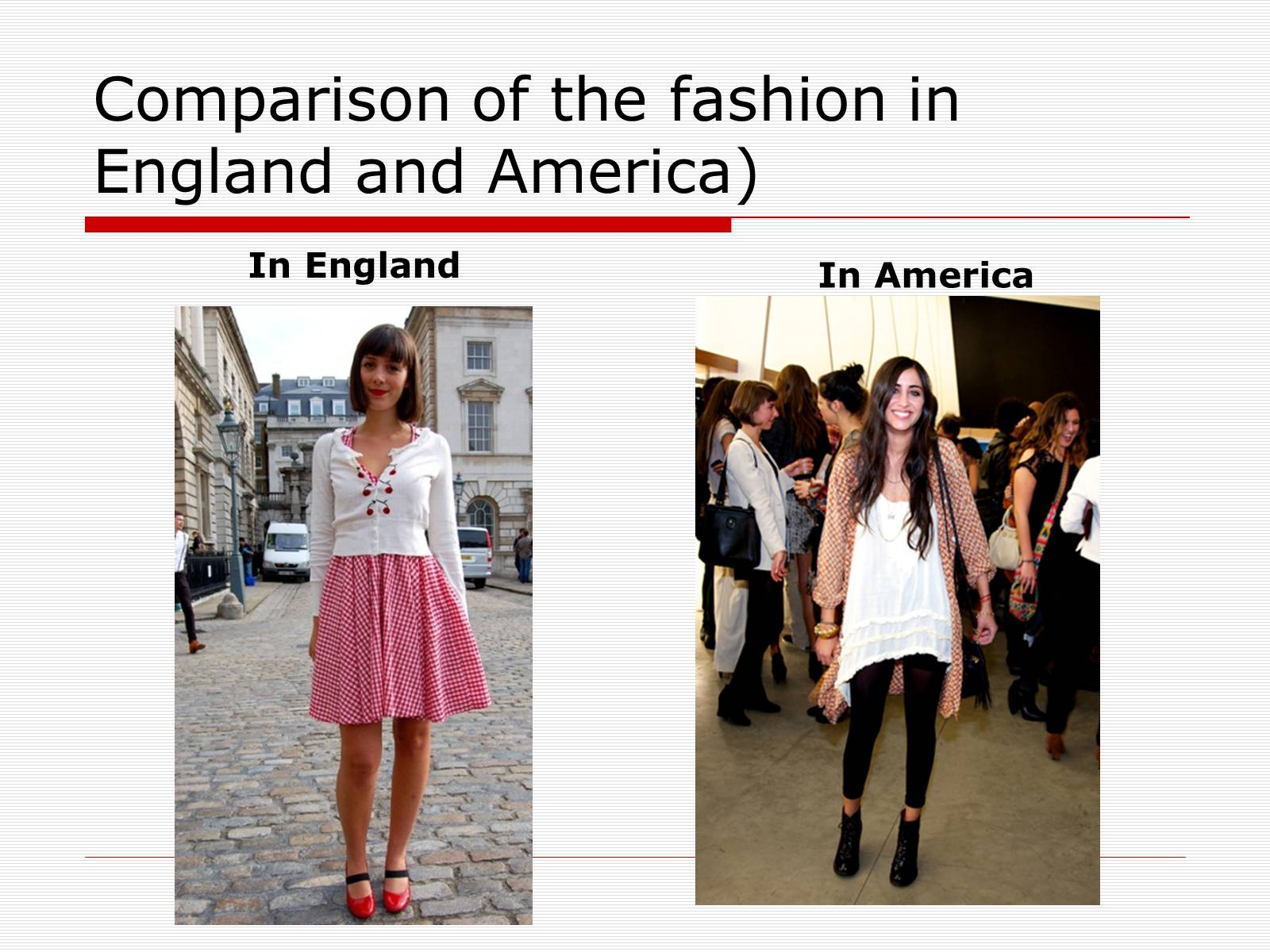 Презентація на тему «Comparison of the fashion in England and America» - Слайд #6