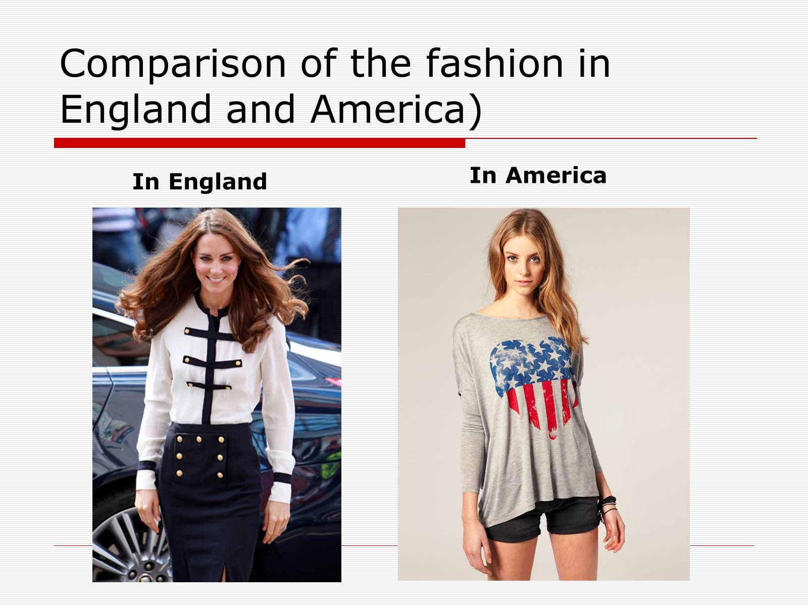 Презентація на тему «Comparison of the fashion in England and America» - Слайд #14
