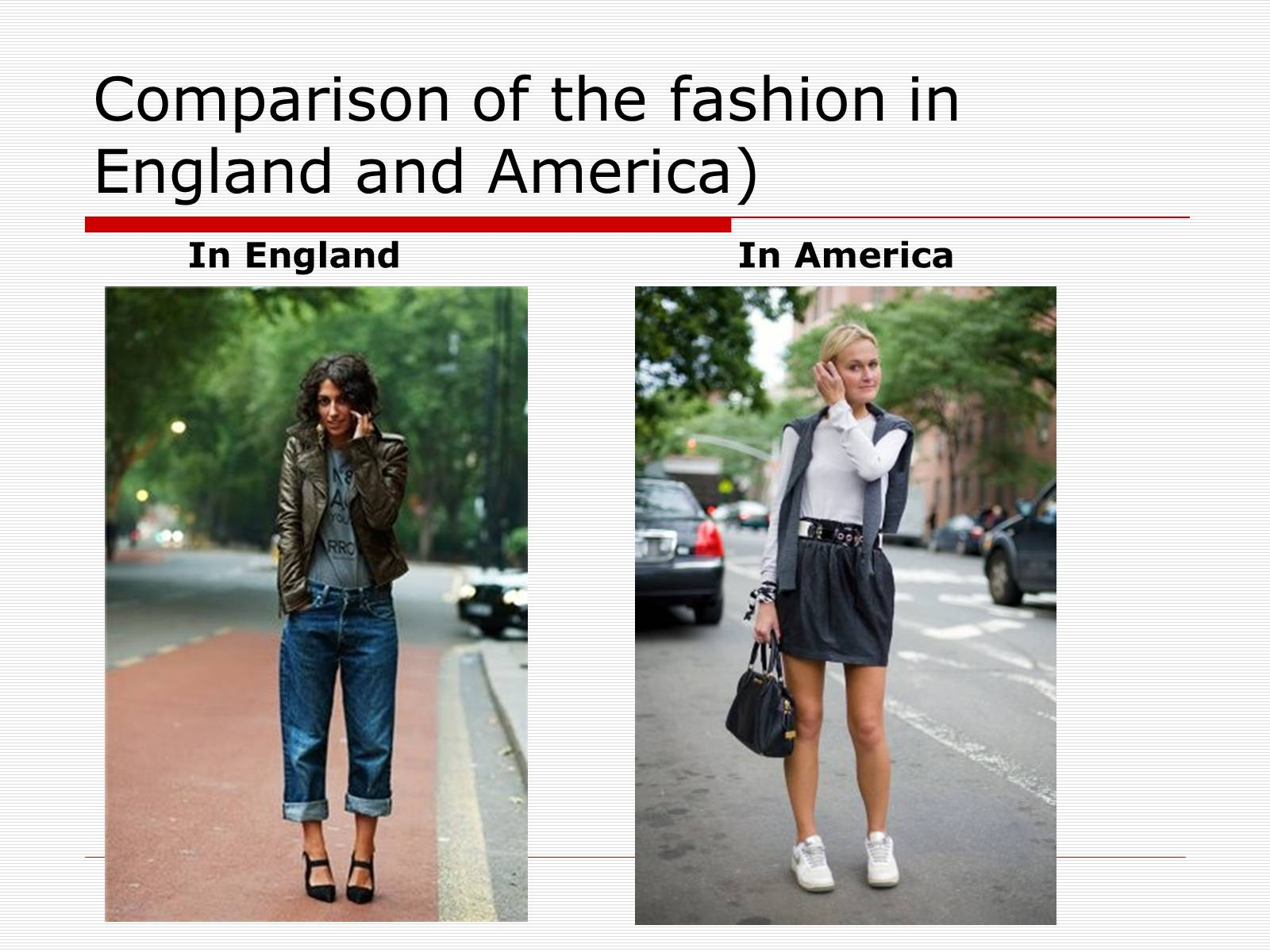 Презентація на тему «Comparison of the fashion in England and America» - Слайд #19