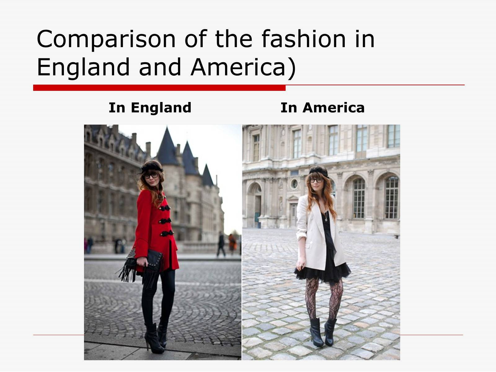 Презентація на тему «Comparison of the fashion in England and America» - Слайд #21