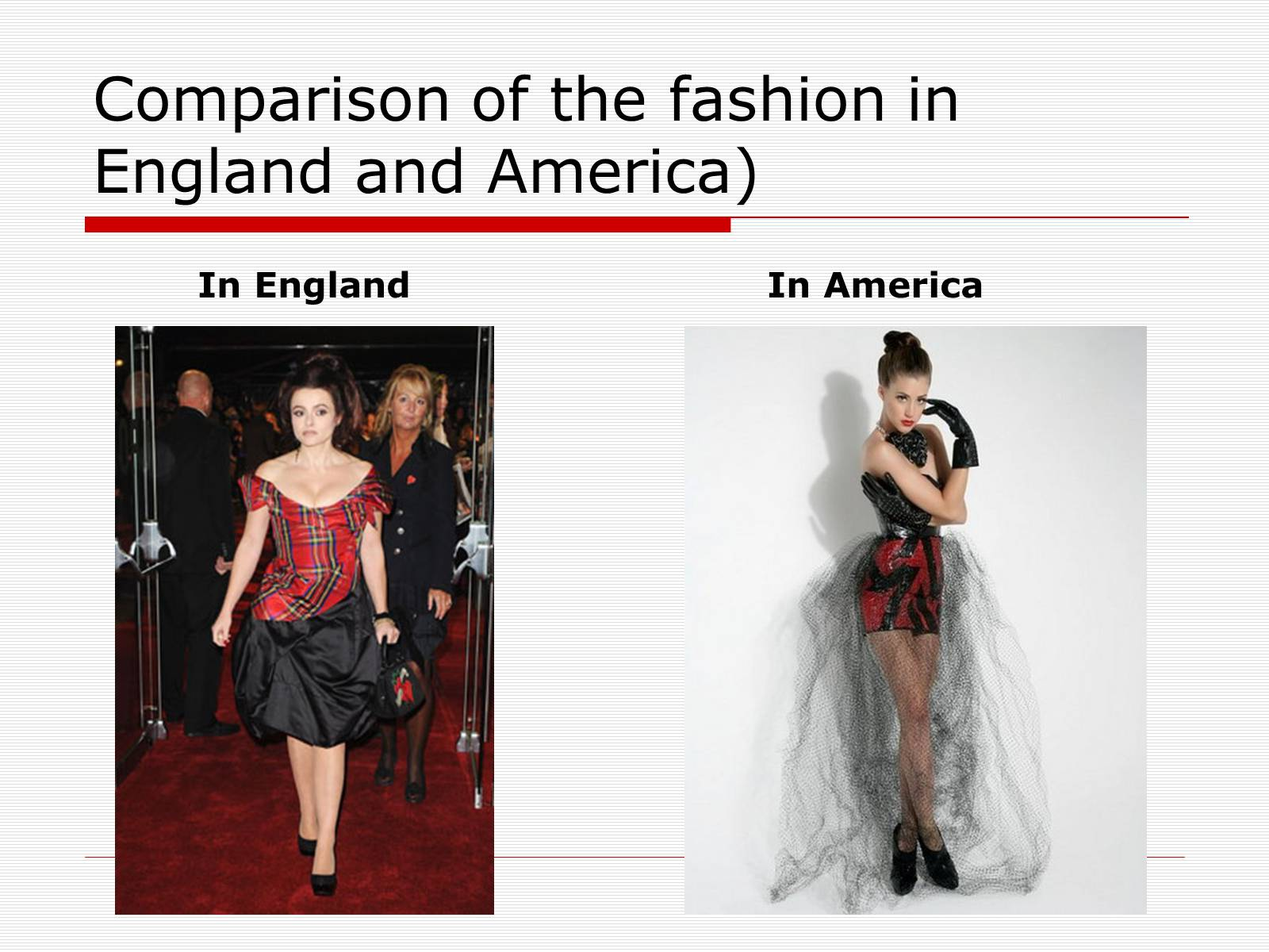 Презентація на тему «Comparison of the fashion in England and America» - Слайд #33