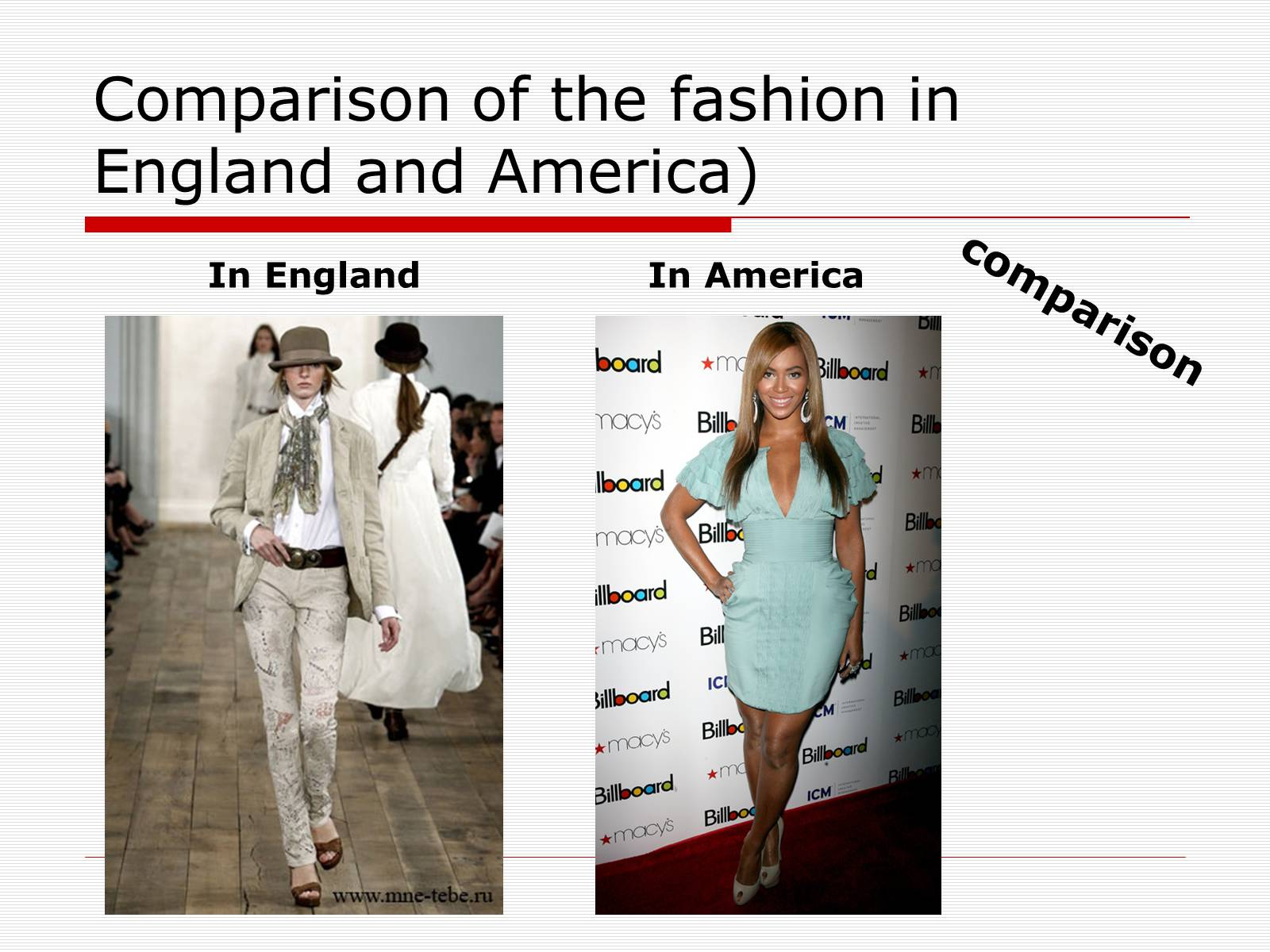 Презентація на тему «Comparison of the fashion in England and America» - Слайд #34