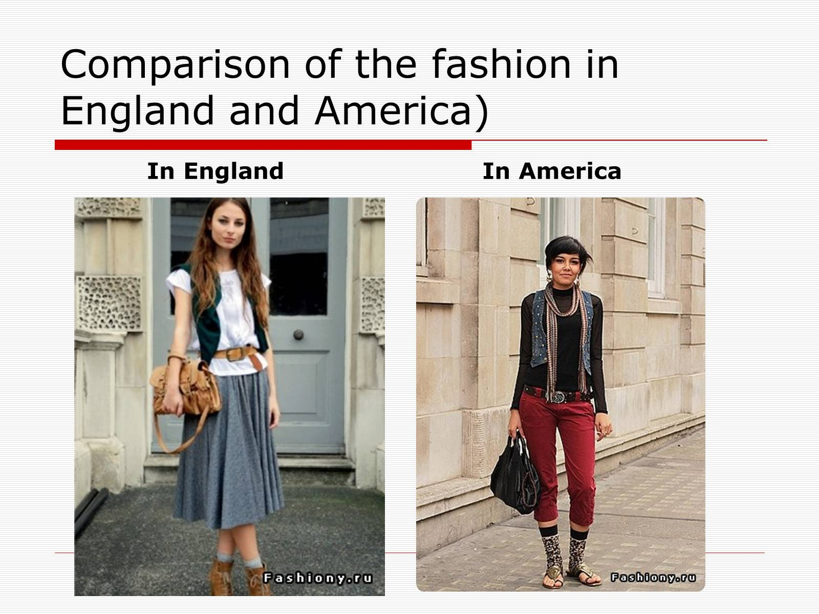 Презентація на тему «Comparison of the fashion in England and America» - Слайд #39