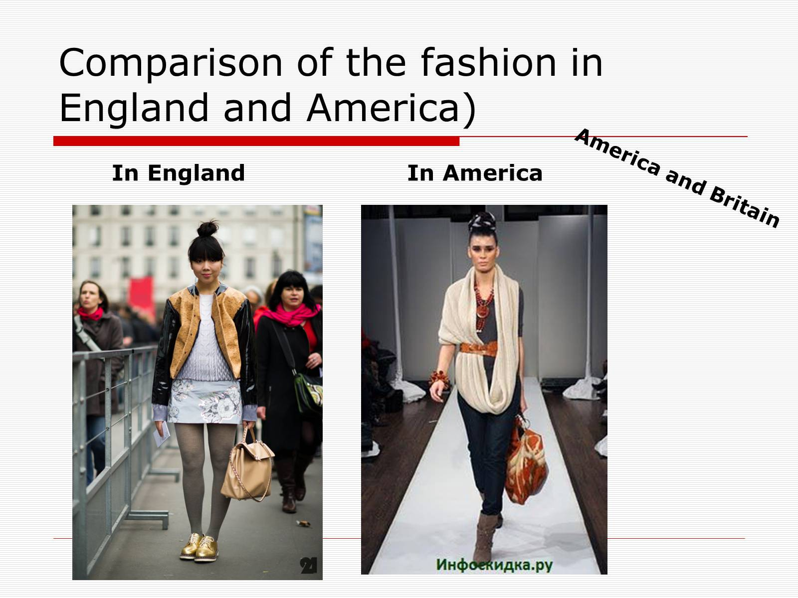 Презентація на тему «Comparison of the fashion in England and America» - Слайд #44