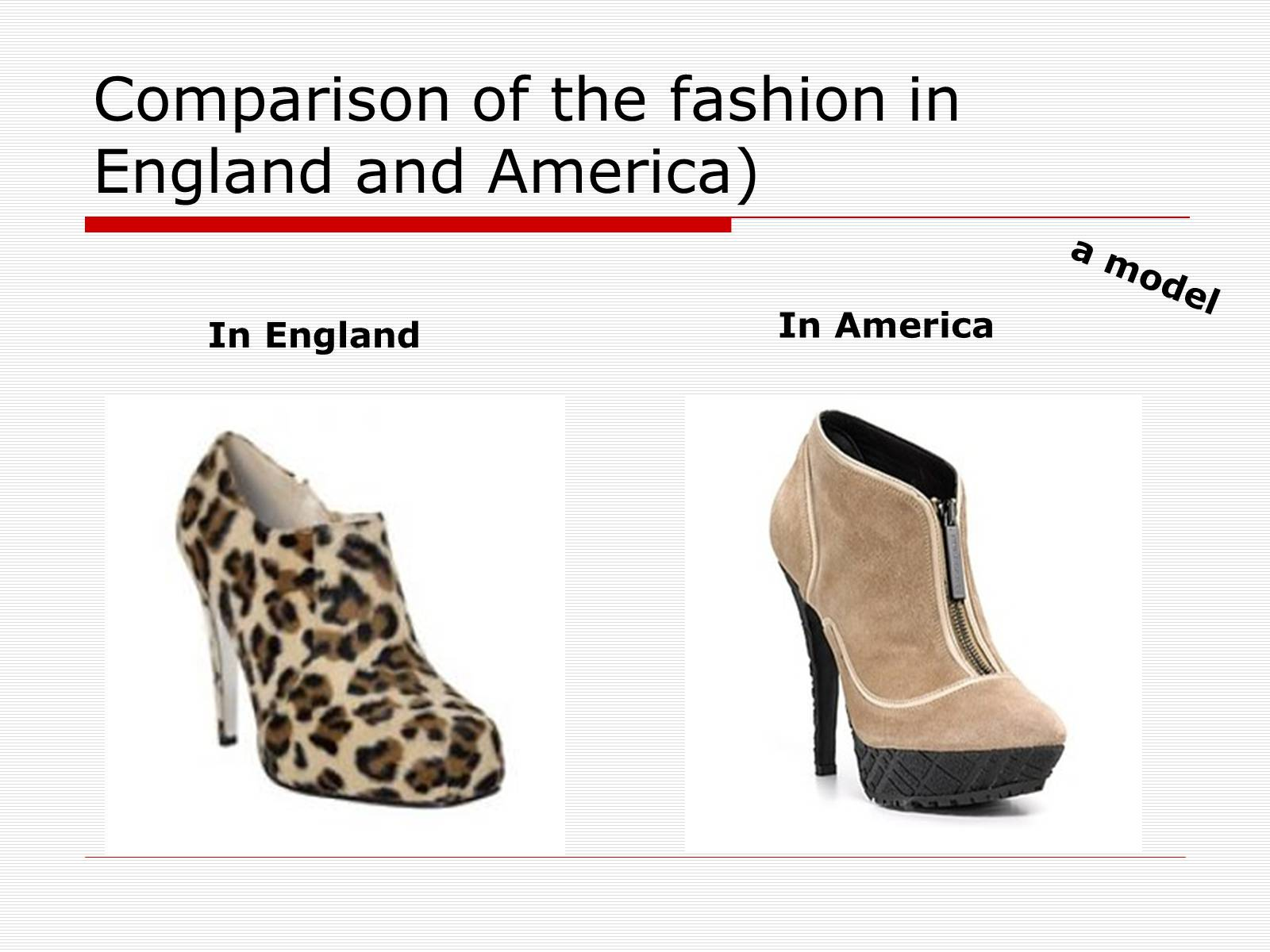 Презентація на тему «Comparison of the fashion in England and America» - Слайд #50