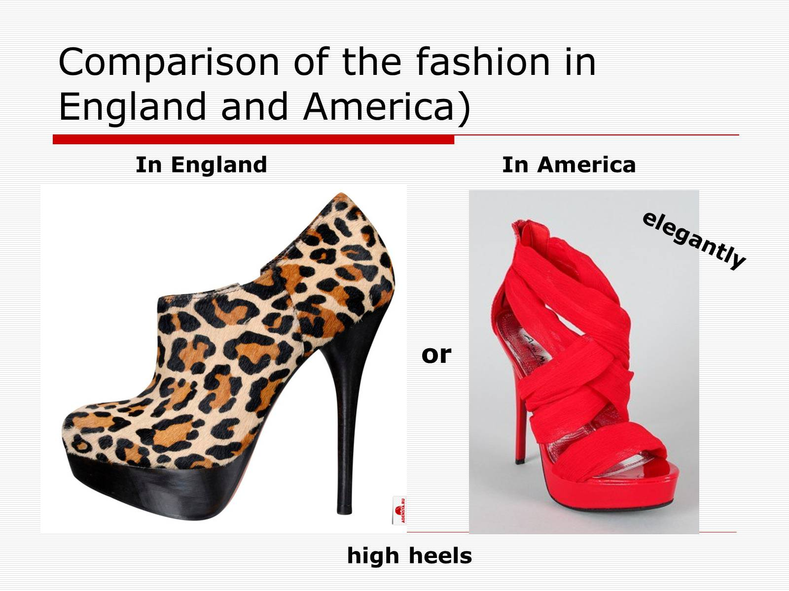 Презентація на тему «Comparison of the fashion in England and America» - Слайд #51