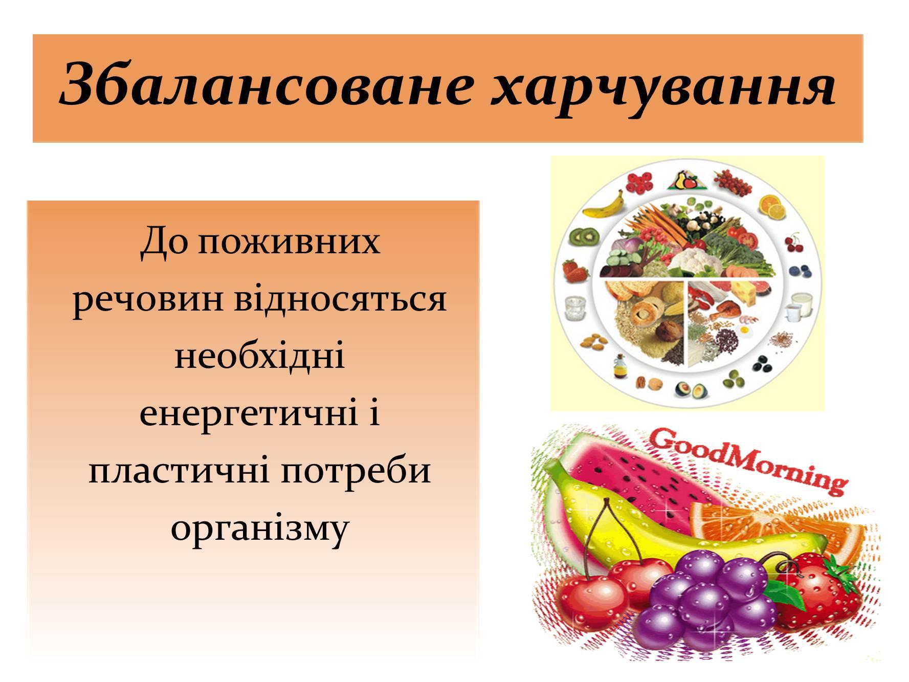 Презентація на тему збалансоване харчування — презентації з.