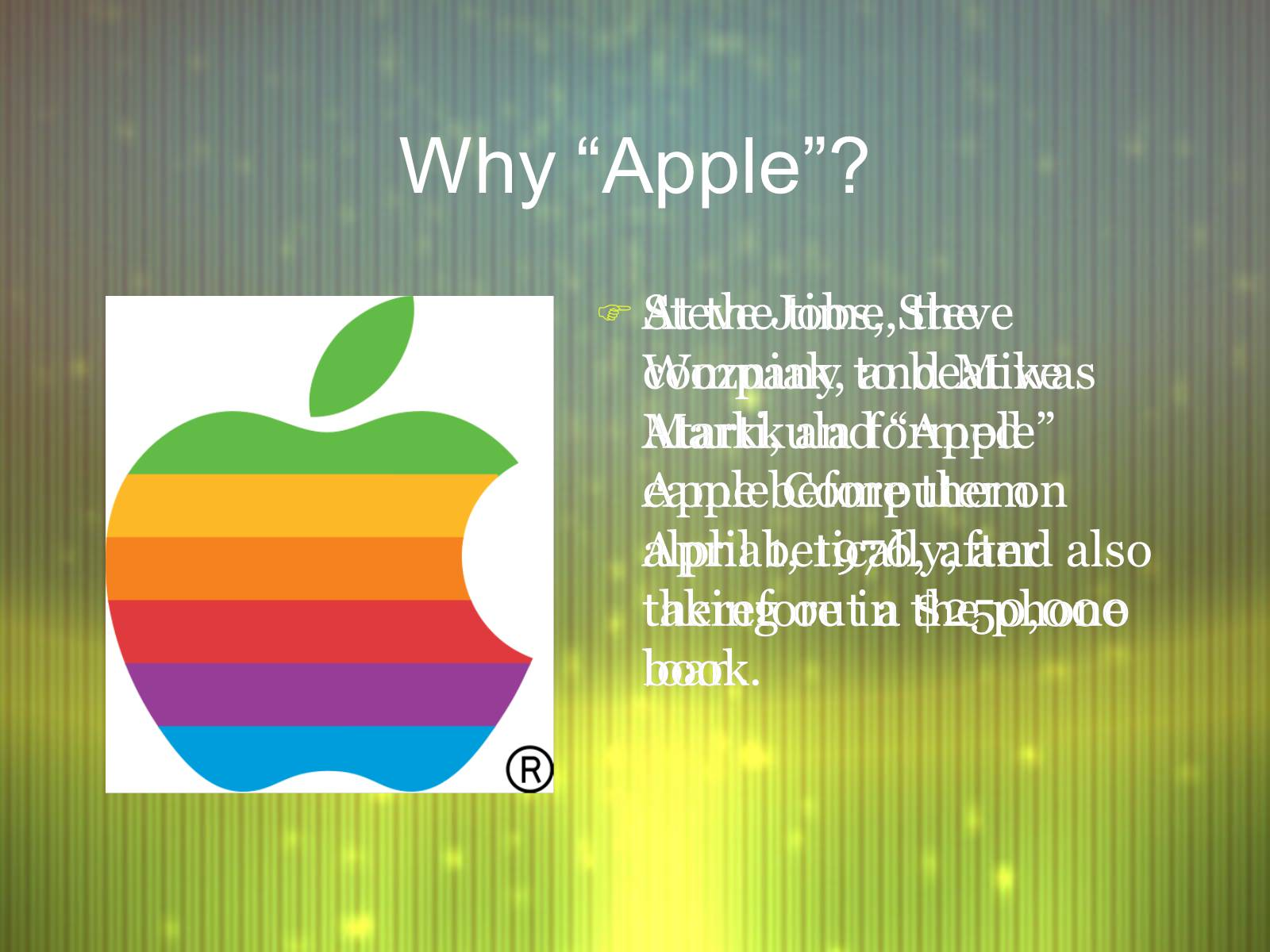a comprehensive history and assessment of apple inc By nancy morgan, rn, bsn, mba, woc, wcc, dwc, oms each issue, apple bites brings you a tool you can apply in your daily practice here's an overview of performing a comprehensive skin assessment.