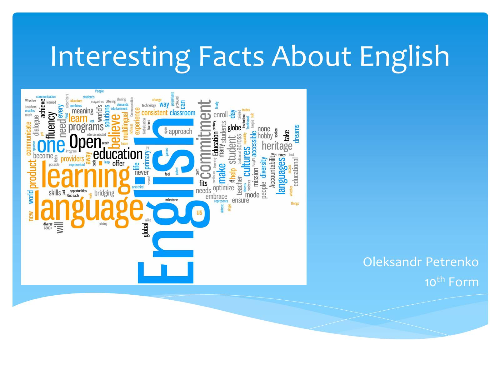 Презентація на тему «Interesting Facts About English»