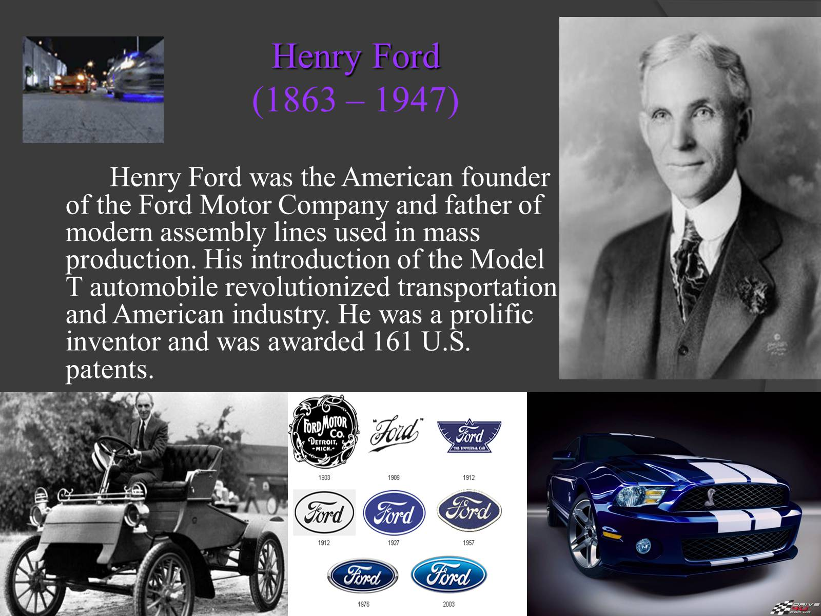 henry ford and the ford motor company On this day in 1919, edsel ford, the son of model t inventor and auto industry pioneer henry ford, succeeds his father as president of the ford motor company.