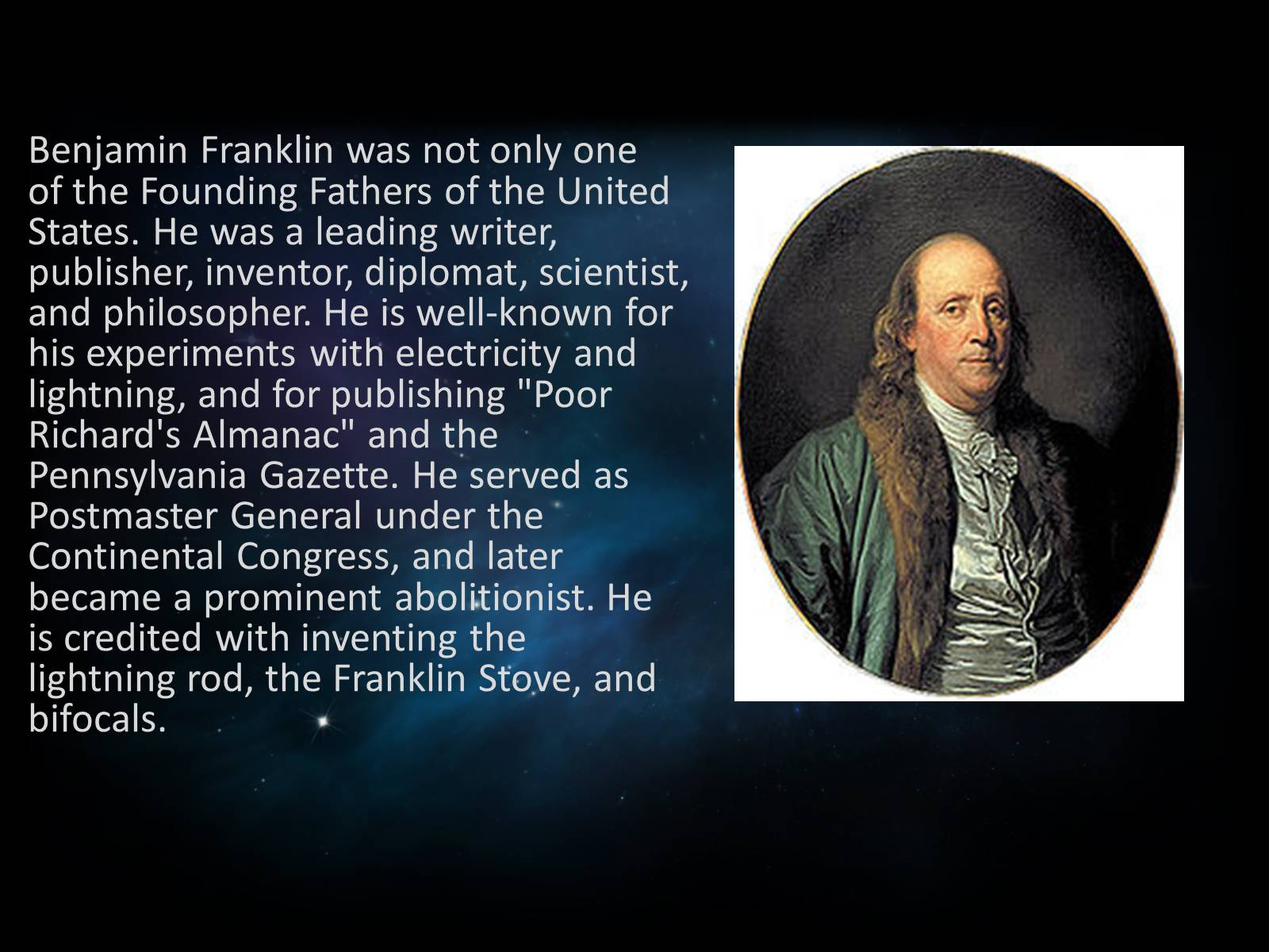 a biography of benjamin franklin a scientist and inventor