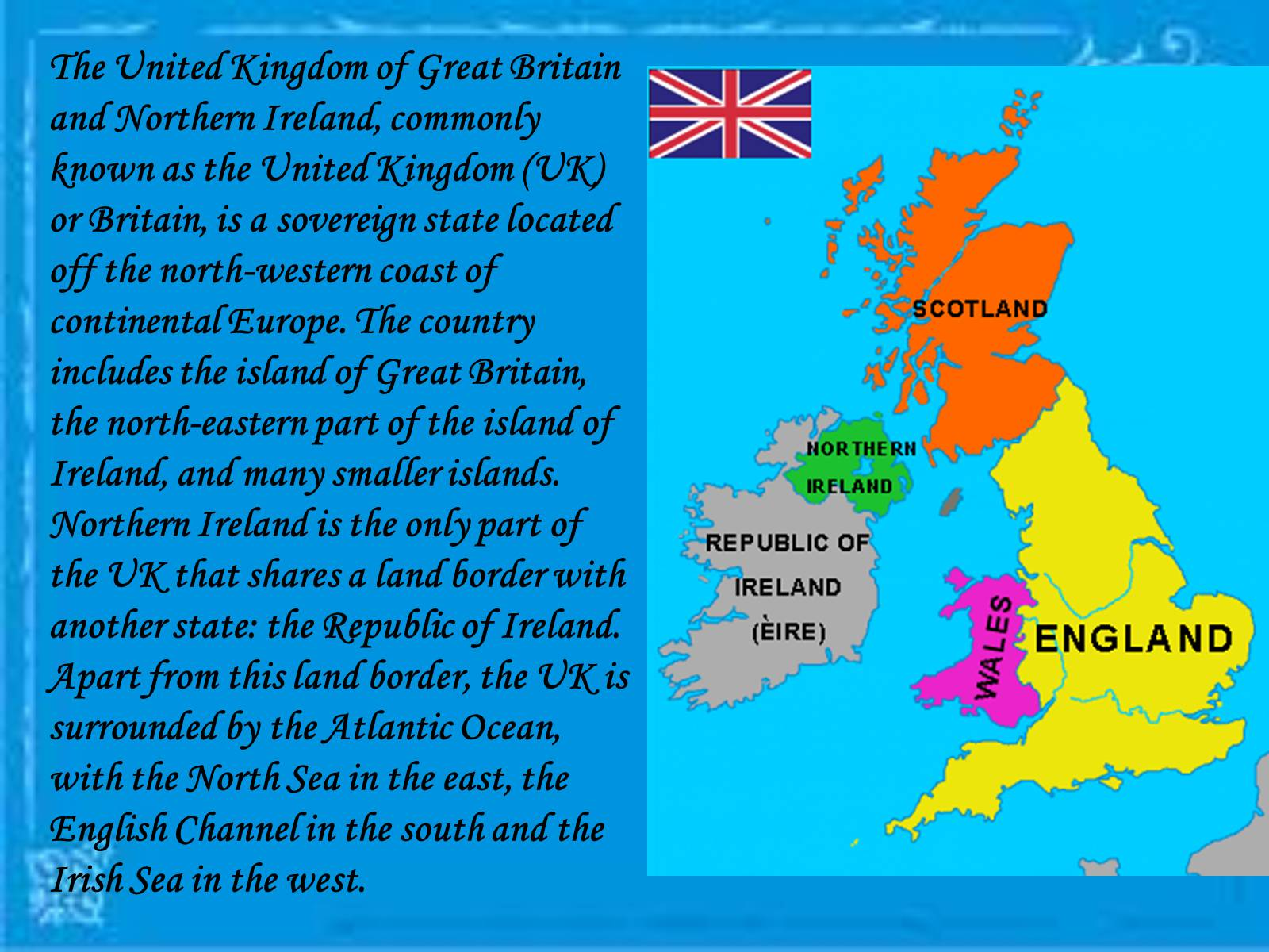 Презентація на тему «The United Kingdom of Great Britain and Northern Ireland» (варіант 2) - Слайд #2