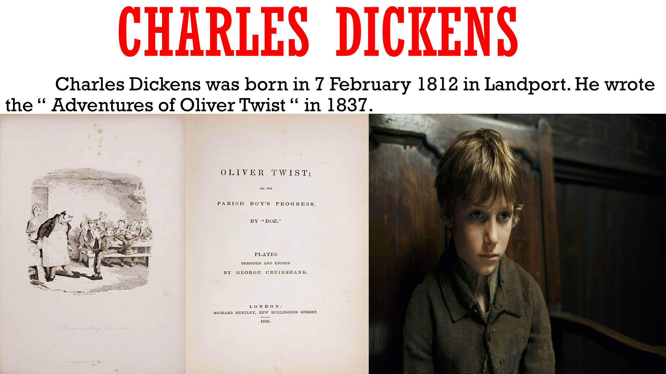 a description of charles dickens born at landport in portsea 7 february 2012 saw the 200th anniversary of the birth of charles dickens marshalsea debtor's prison dickens born in landport on 7 february 1812, charles.