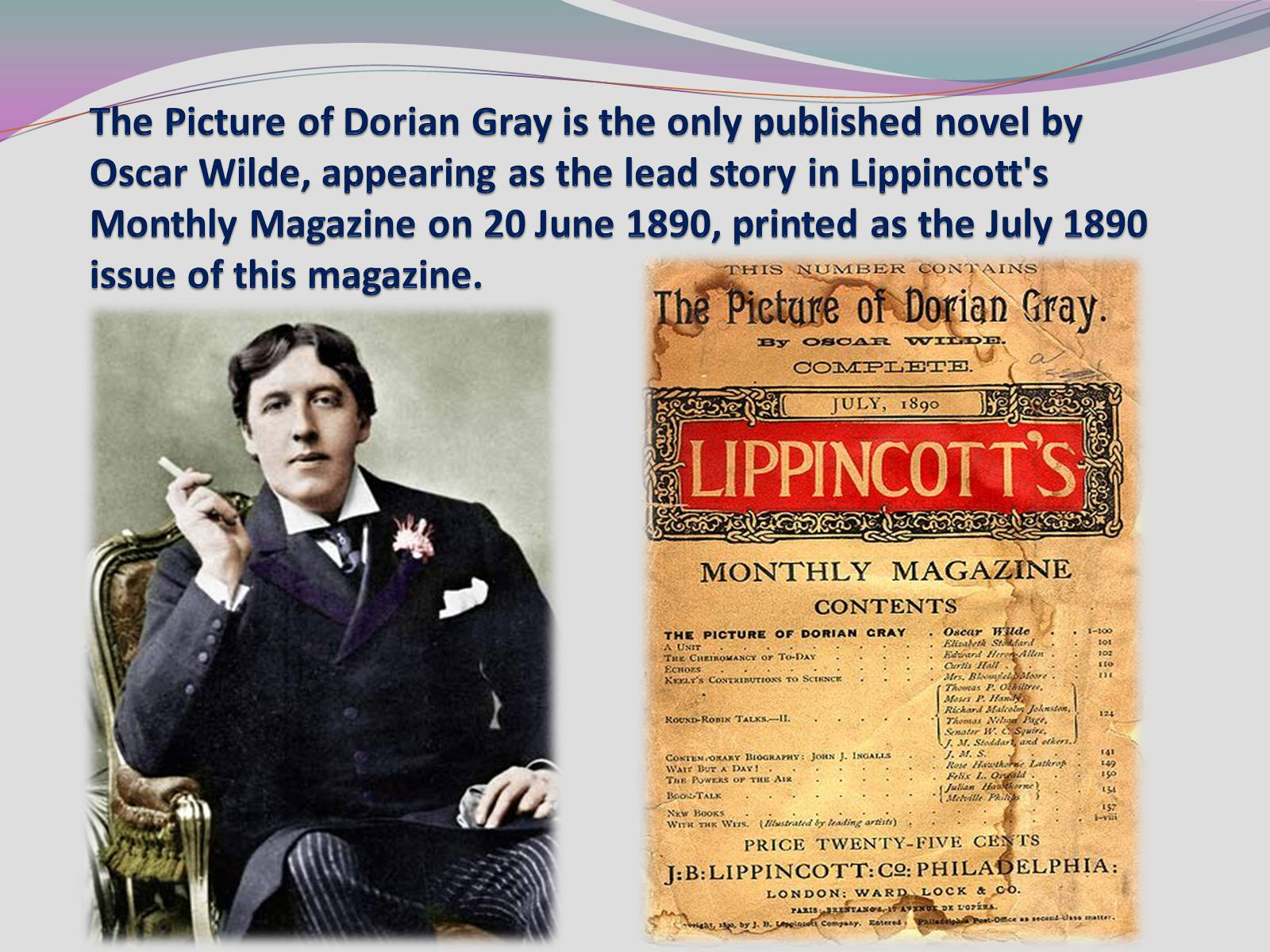 the appearances and the novel the picture of dorian gray by oscar wilde Amazoncom: the picture of dorian gray ebook: oscar wilde: kindle store from the community amazon try prime kindle store go search en.