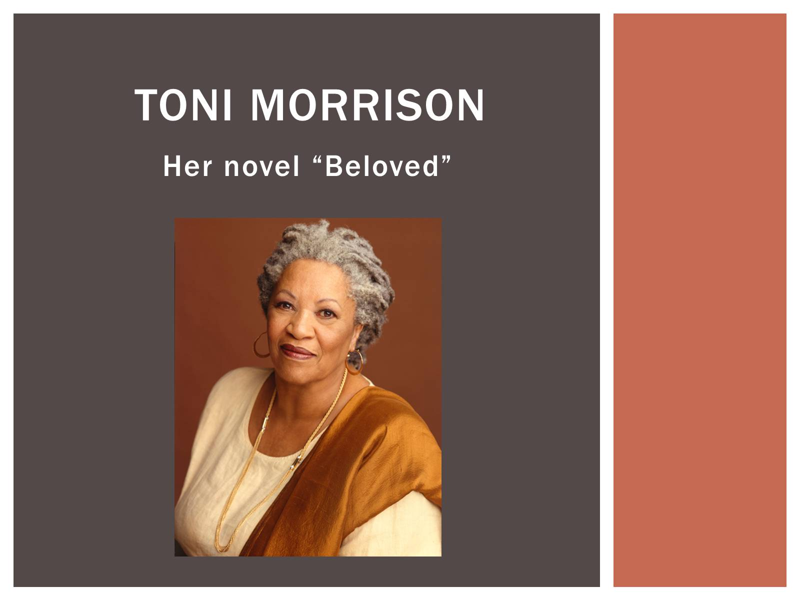 the theme of healing in toni morrisons beloved Buy beloved by toni morrison from amazon's there is also beauty, love, some kind of healing the slavery theme is so strong and so horrific that its.
