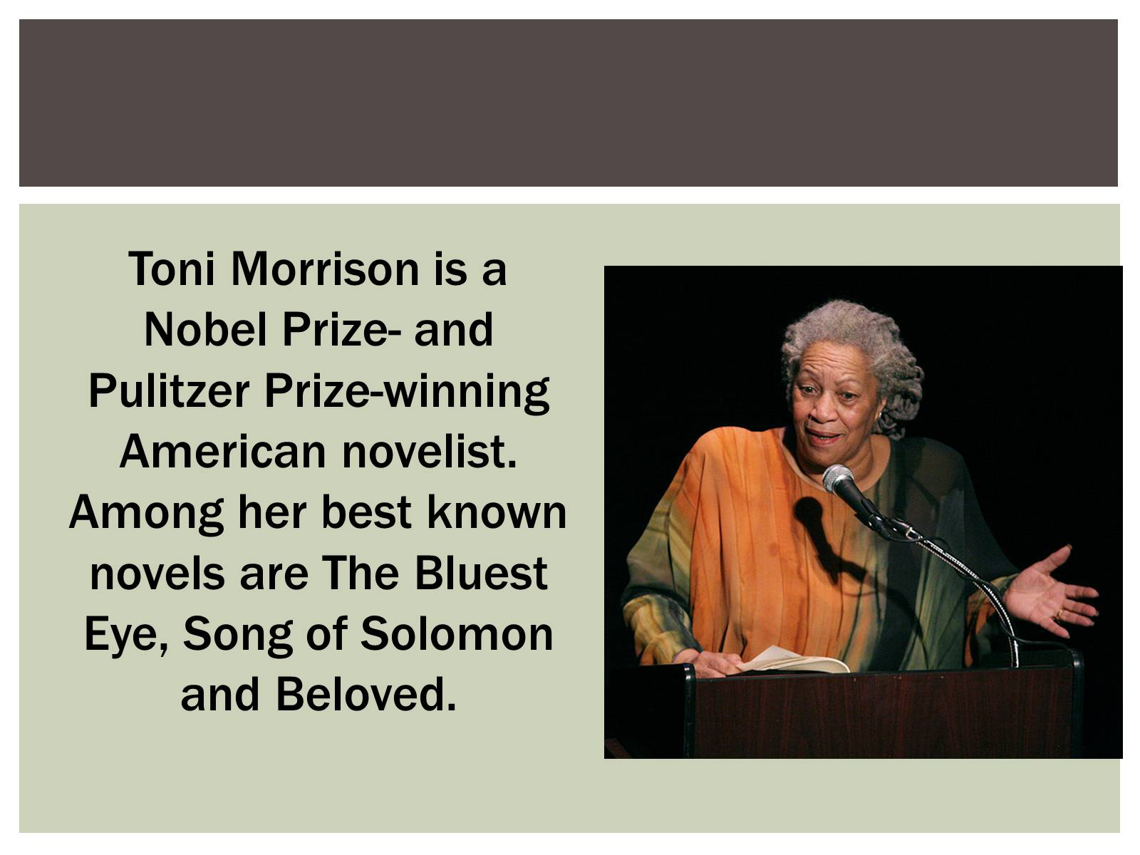 toni morrison novels are known for