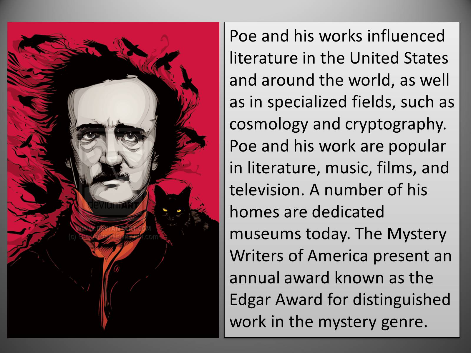 the similarity in edgar allan poes life and his literary works