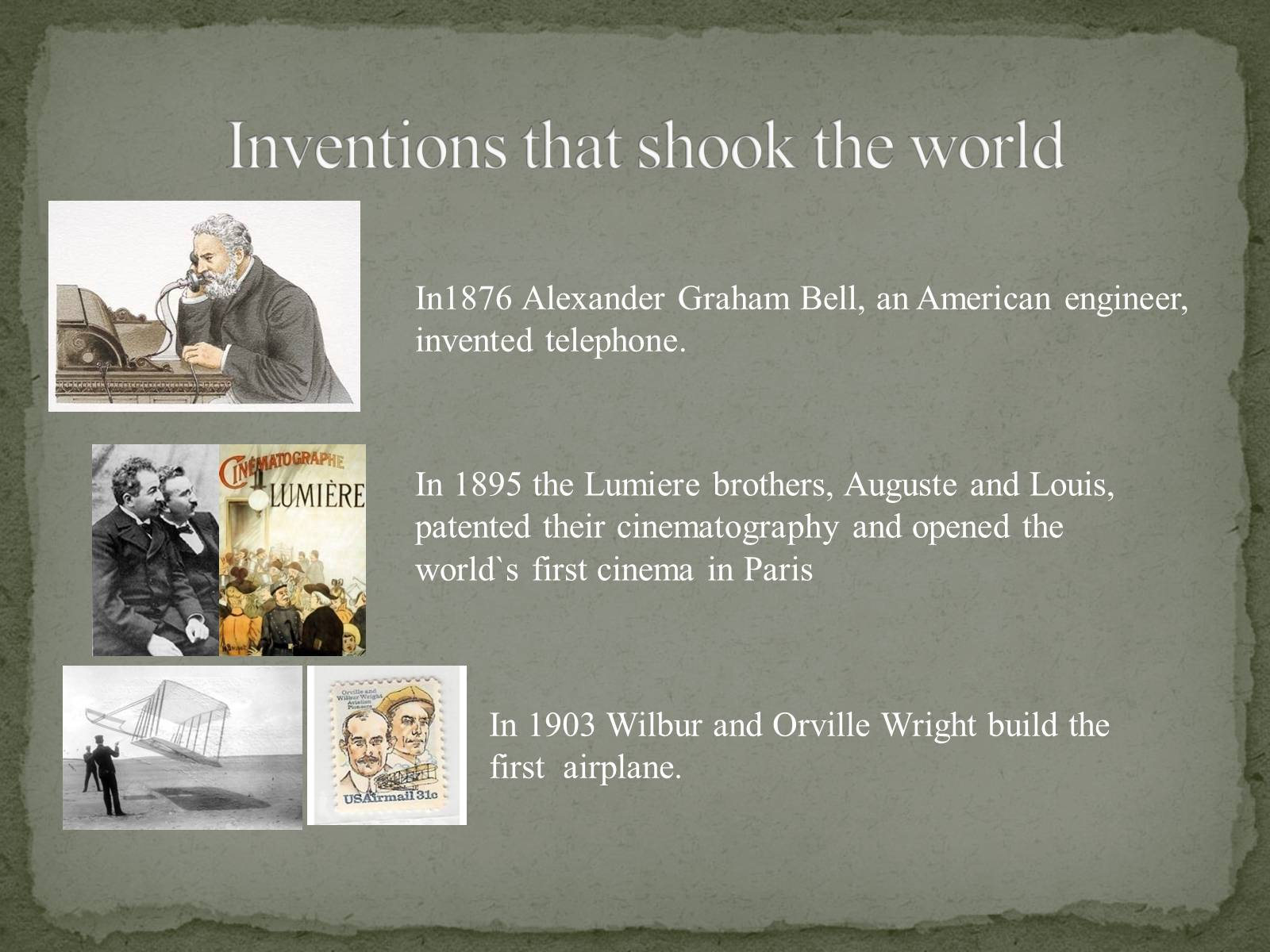 Презентація на тему «The Greatest inventors and invetentions John Logie Baird invented television» - Слайд #3