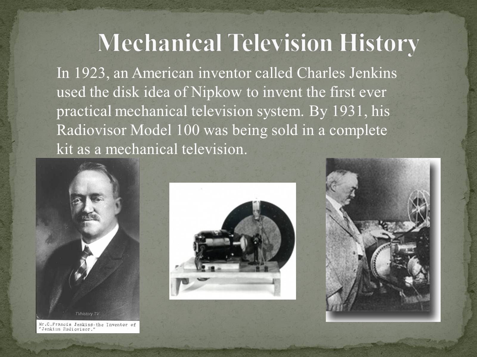 Презентація на тему «The Greatest inventors and invetentions John Logie Baird invented television» - Слайд #9