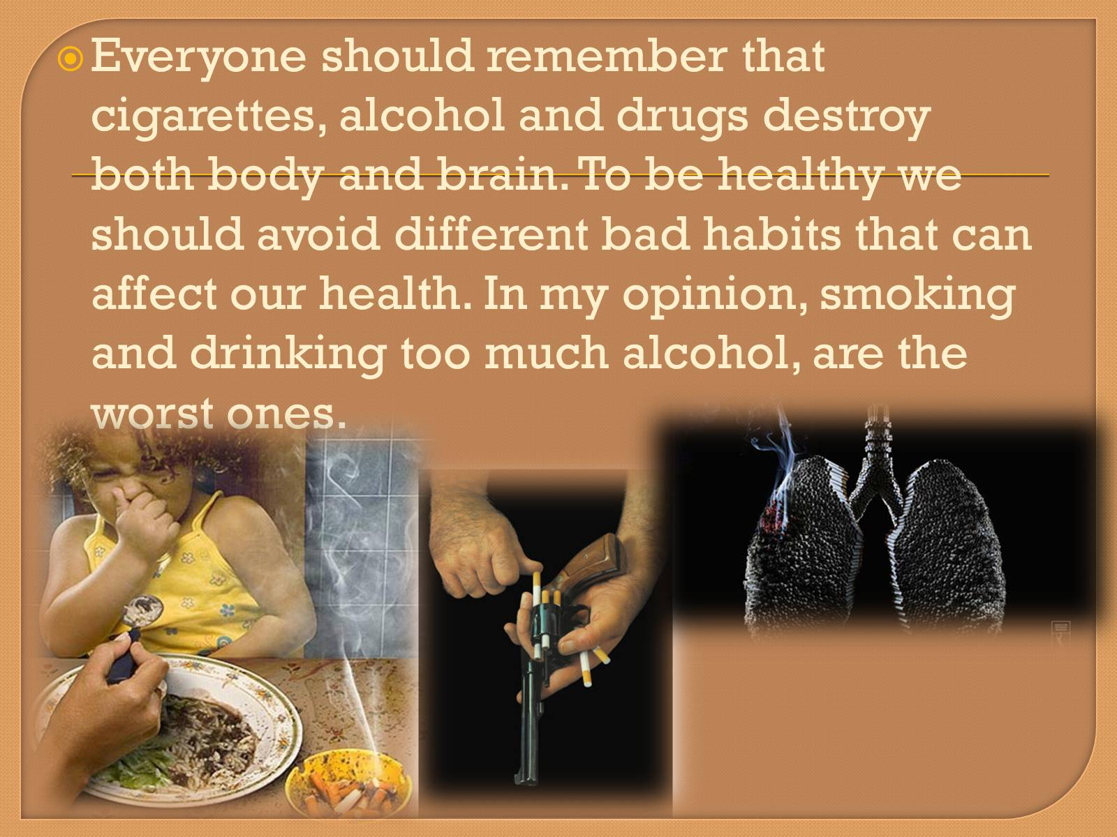 morality and healthy habits The most commonly given moral objection to meat-eating is that, for most people living in the developed world, it is not necessary for survival or health some argue that slaughtering animals solely because people enjoy the taste of meat is wrong and morally unjustifiable.